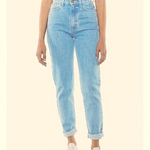 AMERICAN APPAREL LIGHT WASH MOM JEANS